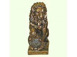 Большая копилка для денег Славянский сувенир Лев левый (М) 9.117 золотая