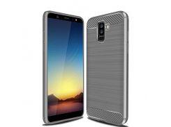 TPU чехол iPaky Slim Series для Samsung Galaxy A6 Plus (2018) / Galaxy J8 (2018) (Серый) 589321