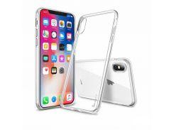 "TPU чехол iPaky Clear Series (+стекло) для Apple iPhone X (5.8"") / XS (5.8"") (Бесцветный (прозрачный)) 662978"