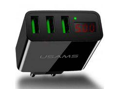 СЗУ USAMS US-CC035 с дисплеем (3USB 2.4A) (Черный) 708219