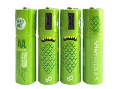 Аккумуляторные батарейки Smartoools AA 1000 mah 4 pcs (Черный) 746829