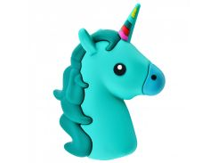 Портативное зарядное устройство PowerBank Emoji New Design 15000 mAh (Real 2600 mAh) (Green_Unicorn) 718129