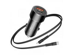 Baseus Screw Series 3.4A USB+USB Type-C PD+USB 3.0/Lightning Cable (TZXLD-01) Black