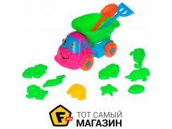 Игрушка для песочницы Same Toy B011-Cut-2 голубой/зеленый, 12пр.