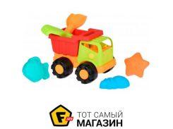 Игрушка для песочницы Same Toy Грузовик зеленый, 6пр. (988Ut-2)