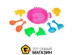 Игрушка для песочницы Same Toy B002-2Ut-2 розовый, 9пр.