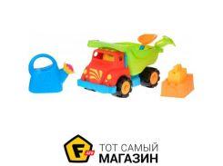 Игрушка для песочницы Same Toy Грузовик красный, 6пр. (973Ut-1)
