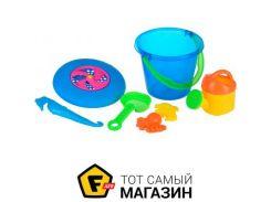 Игрушка для песочницы Same Toy Летающая тарелка синий, 8пр. (HY-1205WUt-1)