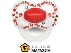Пустышка Bibi Happiness. Papa is The best 6-16, М (114723)