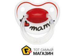 Пустышка Bibi Happiness. I love mama 0-6, М (112930)