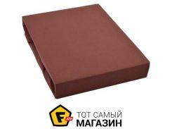 Простынь на резинке IDEIA Трикотажная 90x200см, шоколадный (2200003841671)