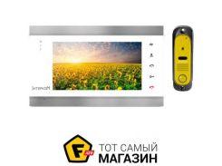 Домофон Интерком IM-12 white/yellow