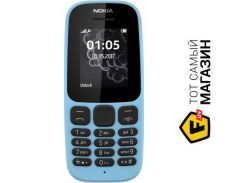телефон nokia 105 single sim 2017 blue