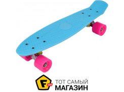 Скейтборд Best Board 7801 55см, голубой