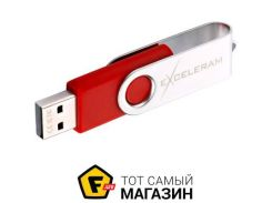 Флешка Exceleram P1 Series 32GB Silver/Red (EXP1U2SIRE32)