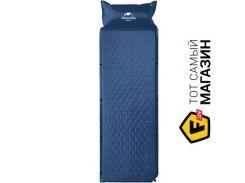 Самонадувной коврик Naturehike One man inflatable pad with pillow dark blue (NH15Q002-D)
