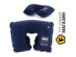Надувная подушка Naturehike U-shaped Inflatable Flocking Travel Neck Pillow dark blue (NH15A003-L)