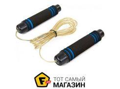 Скакалка Zelart CM-J600 300см, черный/синий