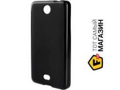 Чехол Drobak Elastic PU для Microsoft Lumia 430 DS Black (215626)