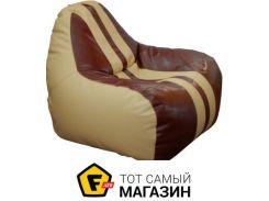 Кресло-мешок Примтекс плюс Simba Sport H-2201/H-002 S, beige/brown