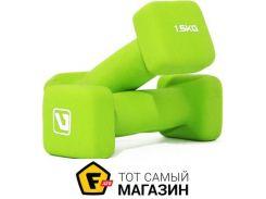 Гантели Liveup Square Head 1.5кг green, 2шт. (LS2002-SQ15)