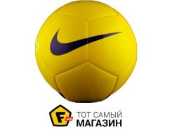 Футбольный мяч Nike Pitch team 5, yellow (SC3166-701)
