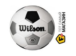 Футбольный мяч Wilson Traditional 5, white/blue/silver (WTE8735XB05)