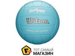 Волейбольный мяч Wilson Soft Play Volleyball, blue (WTH3501XBLU)