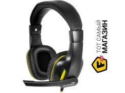 наушники gemix w-390 black/yellow