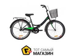 """Велосипед Formula Smart с корзиной 2019 24"""" черный/салатовый 15"""" (OPS-FR-24-142)"""
