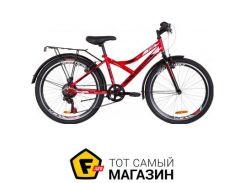 """Велосипед Discovery Flint MC 2019 24"""" красный/белый/черный 14"""" (OPS-DIS-24-127)"""