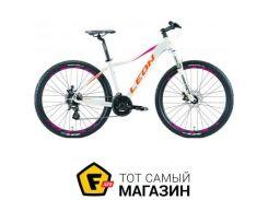 """Велосипед Leon XC Lady DD 2019 27.5"""" белый/оранжевый/малиновый 16.5"""" (OPS-LN-27.5-030)"""