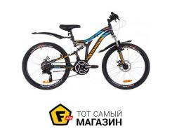 """Велосипед Discovery Rocket DD 2019 24"""" черный/оранжевый/синий 15"""" (OPS-DIS-24-136)"""