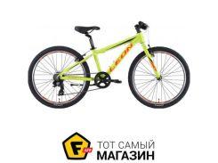 """Велосипед Leon Junior Rigid 2019 24"""" салатовый/оранжевый 12.5"""" (OPS-LN-24-025)"""