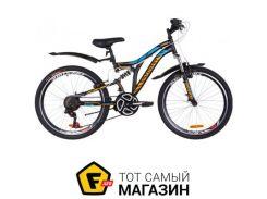"""Велосипед Discovery Rocket 2019 24"""" черный/оранжевый/синий 15"""" (OPS-DIS-24-140)"""