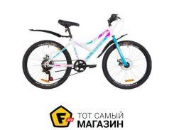 """Велосипед Discovery Flint DD 2019 24"""" белый/голубой/розовый 14"""" (OPS-DIS-24-124)"""