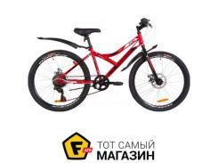 """Велосипед Discovery Flint DD 2019 24"""" красный/белый/черным 14"""" (OPS-DIS-24-122)"""