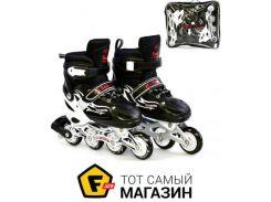 Роликовые коньки Best Rollers A25508/60506 30-33, черный