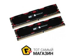 Память Goodram DDR4 8GB (2x4GB), 2400MHz, PC4-19200, Iridium Black (IR-2400D464L15S/8GDC)