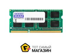 Память Goodram SODIMM DDR3 8GB, 1600MHz, PC3-12800, для Apple iMac (W-AMM16008G)