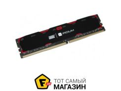Память Goodram DDR4 8GB, 2400MHz, PC4-19200, Iridium Black (IR-2400D464L15S/8G)