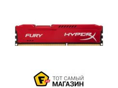 Память Kingston DDR3 8GB, 1866MHz, PC3-14900, HyperX Fury Red (HX318C10FR/8)