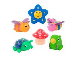 Набор игрушек для ванны Друзья на поляне BABY TEAM 6 шт (9056)