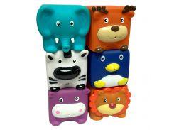 Набор игрушек для ванны Зверята-кубики Baby Team 6 шт (9050)