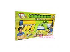Игровой набор автомат и мягкие шарики DEEX 6 и 8 шт (DSG12716)