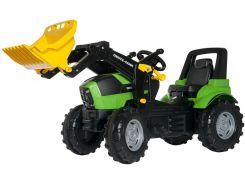 Трактор с ковшом Rolly Toys RollyFarmtrac Deutz Agrotron 7250 Ttv черно-зеленый (710133)