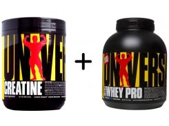 Universal Nutrition Ultra Whey Pro 2270 g /76 servings/ Vanilla Ice Cream + Universal Nutrition Creatine Powder 300 g /60 servings/ Unflavored