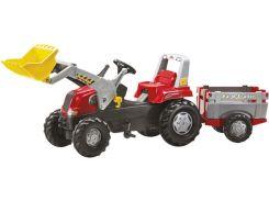 Трактор Rolly Toys Rolly Junior с прицепом и ковшом красный (811397)