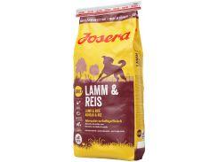 Сухой корм для взрослых собак Josera Lamb & Rice 15 кг (4032254743354)