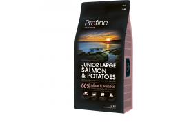 Сухой корм для щенков и молодых собак крупных пород Profine Junior Large Salmon с лососем и картофелем 15 кг (8595602517596)